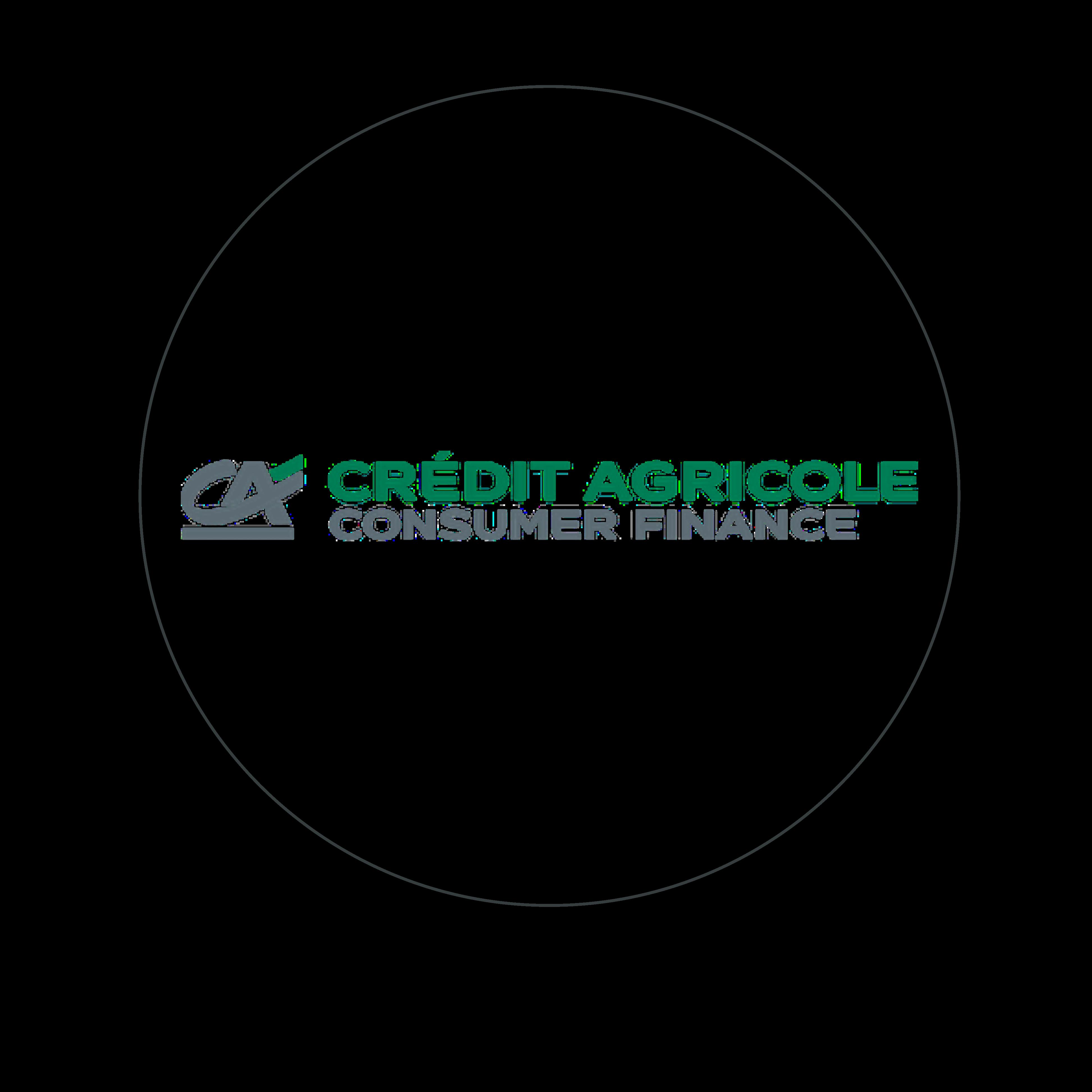logo CA vert et gris cerclé