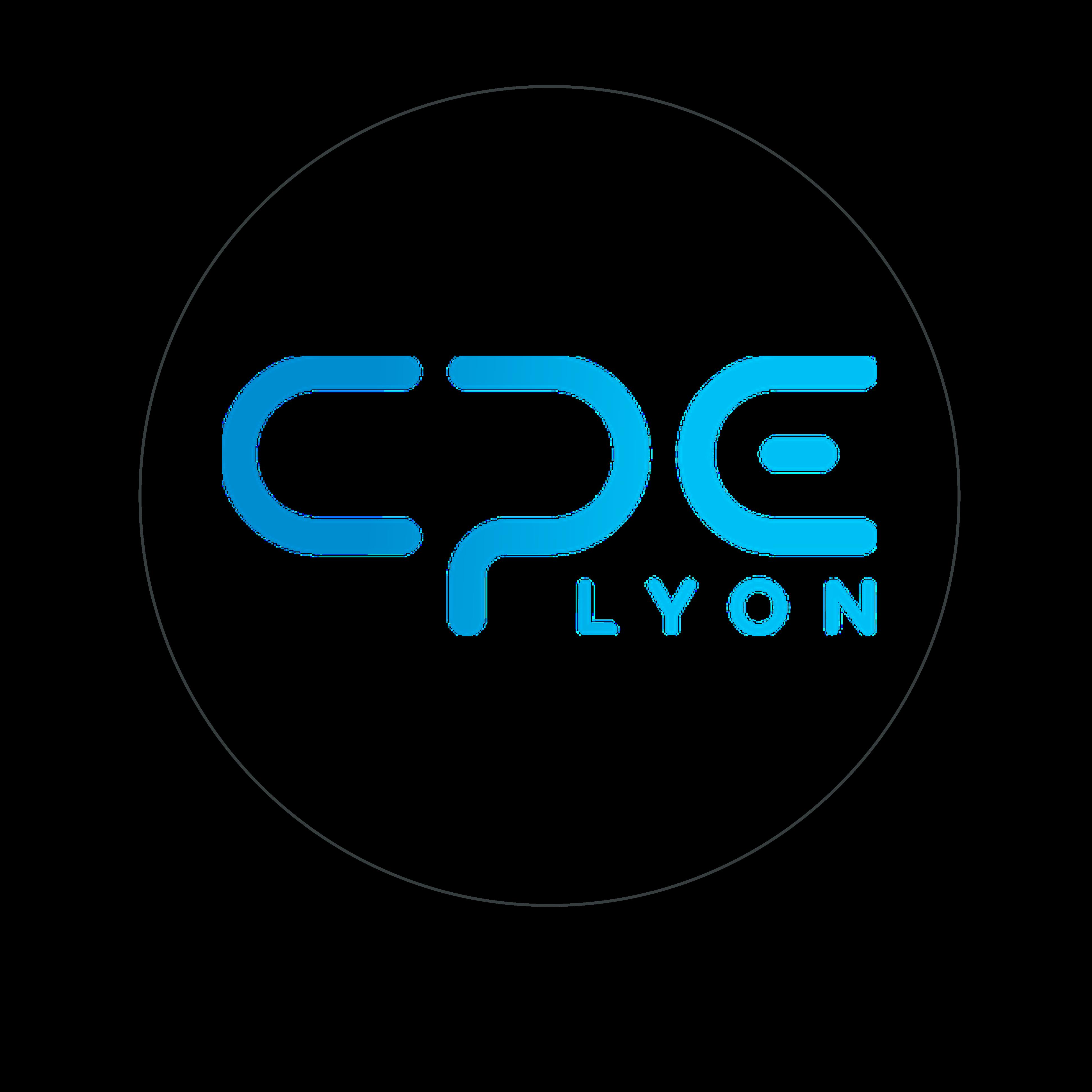 logo CPE lyon bleu cerclé gris