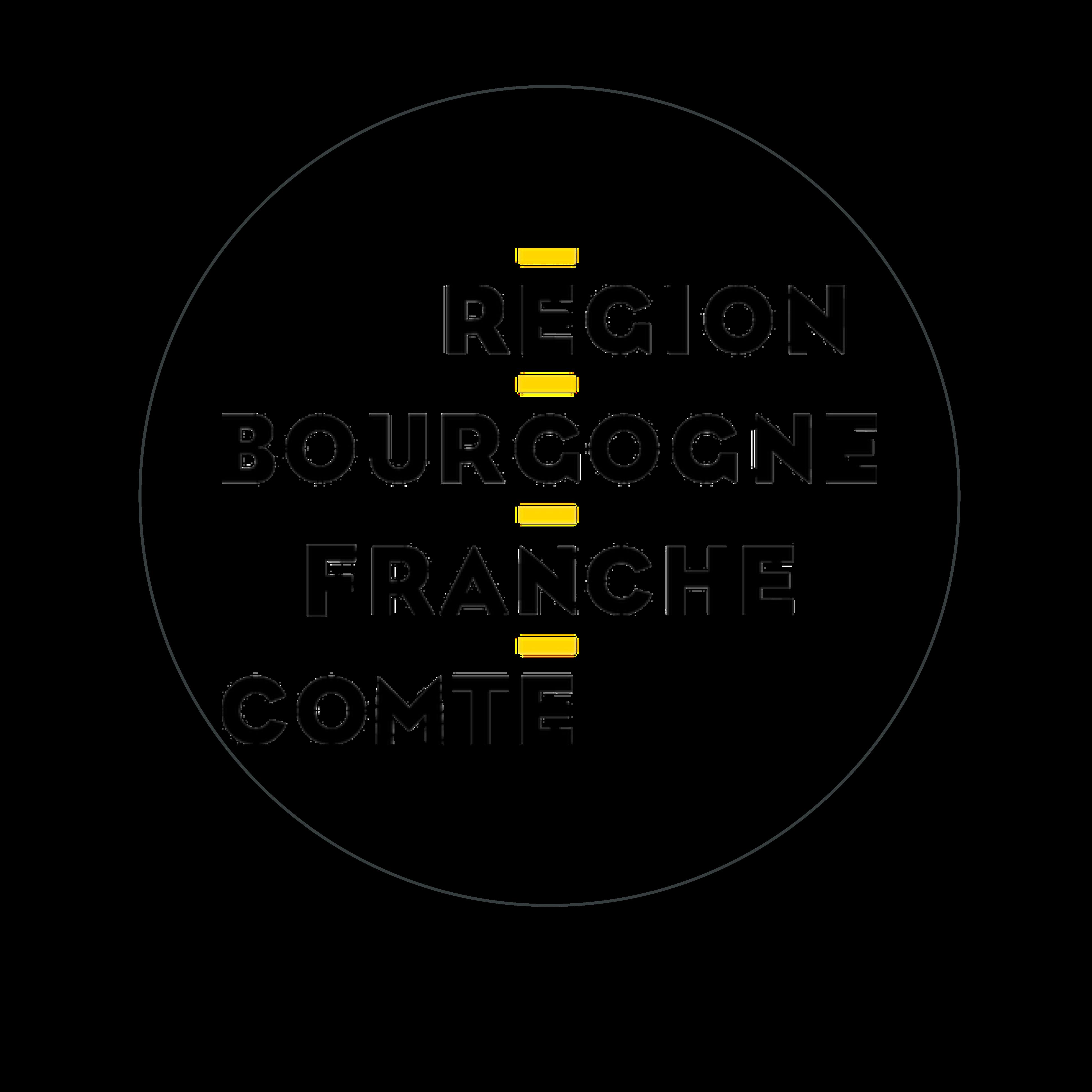 logo region bourgogne franche comté cerclé gris