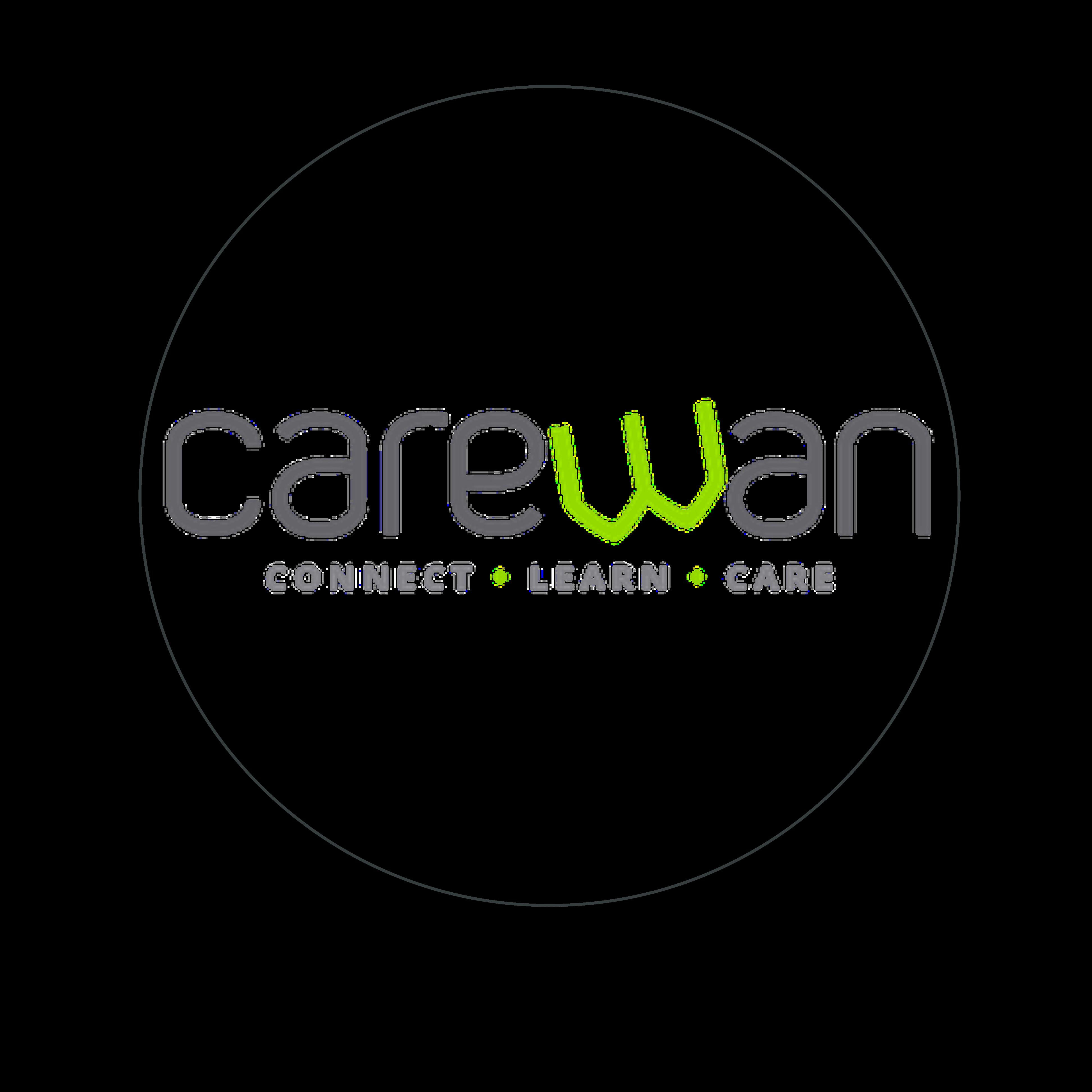 logo carewan gris et vert cerclé