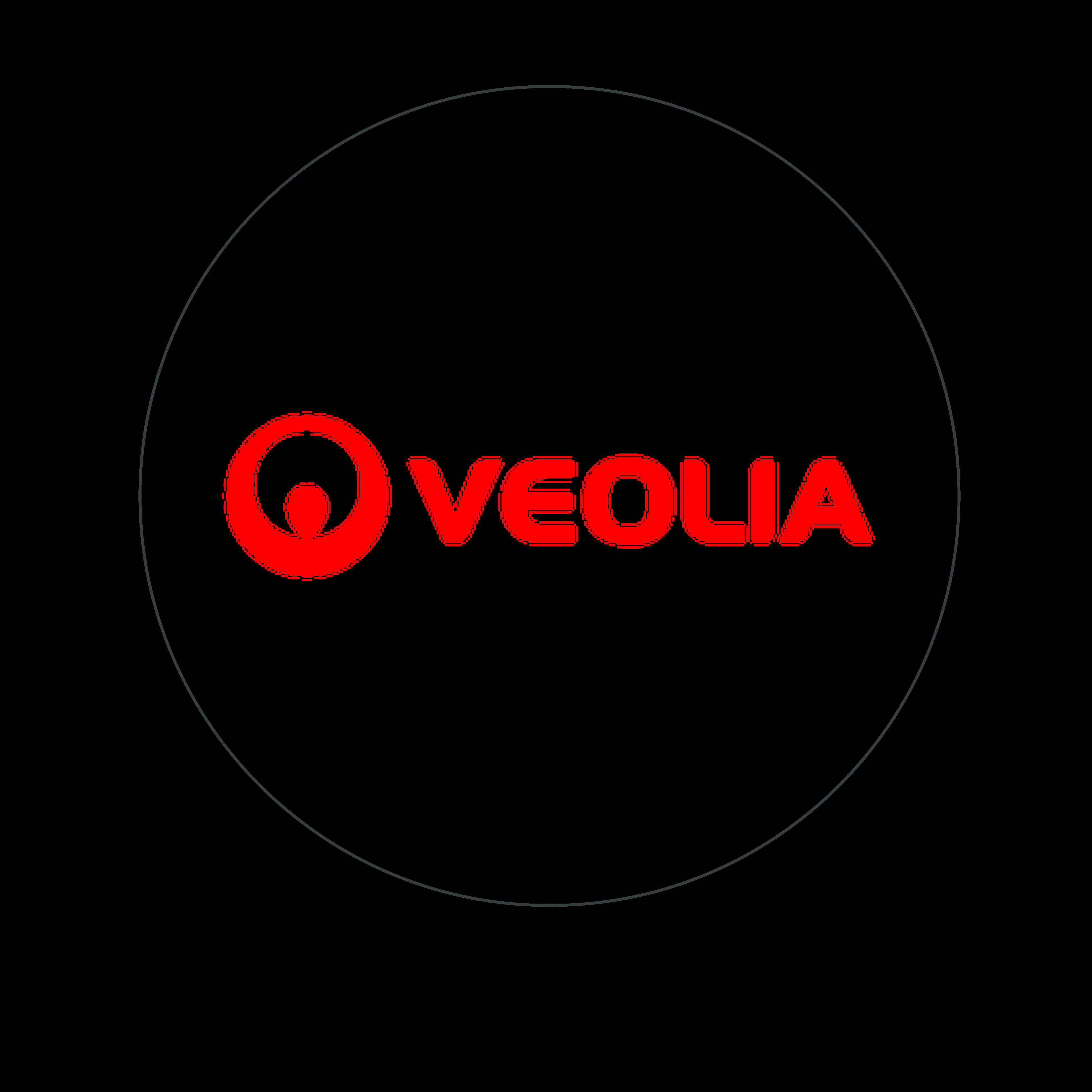 logo veolia rouge cerclé gris